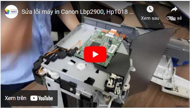 Sủa máy in Canon 2900 kẹt giấy