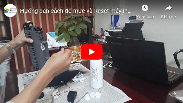 huong dan cach do muc va reset may in Brother